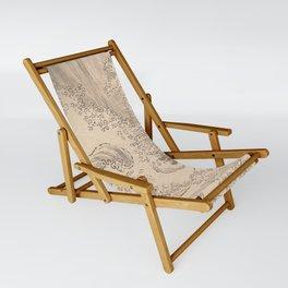 Wave by Katsushika Hokusai 1760–1849, Japanese Sling Chair