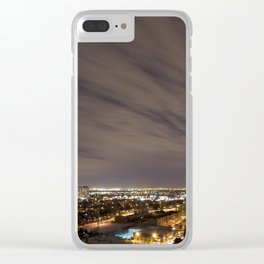 City Nights. Clear iPhone Case