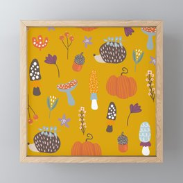 Fall Critters Framed Mini Art Print