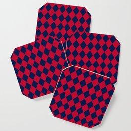 Red blue geometric pattern Coaster