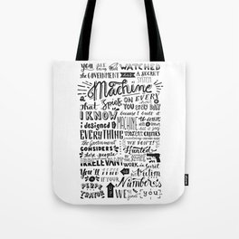 The Machine | Person of Interest Tote Bag