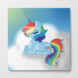 Rainbow Dash Metal Print