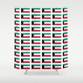 Flag of kowait -kuwaiti,,الكويت ,Kuwait City,كويتي ,arabia,failaka,bubiyan,Al jahrah,abdali Shower Curtain