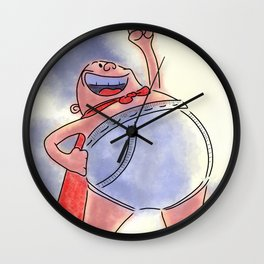 Captain Underpants Wall Clock