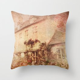 Rose Cottage Throw Pillow
