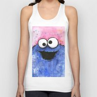 cookie monster Tank Tops featuring Cookie Monster by Olechka