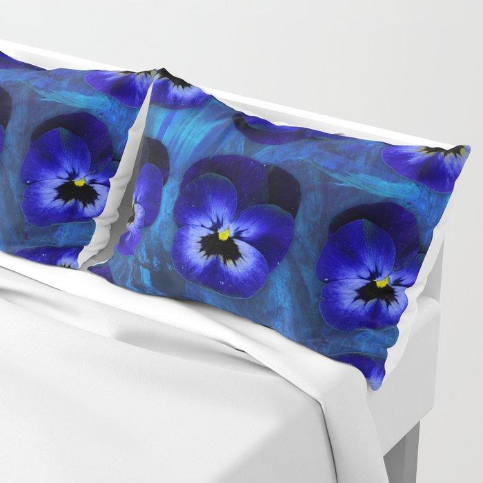 Deep Blue Velvet Pillow Sham