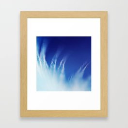 White Feathers Floating Up to Heaven Framed Art Print