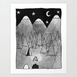 Camping. Art Print