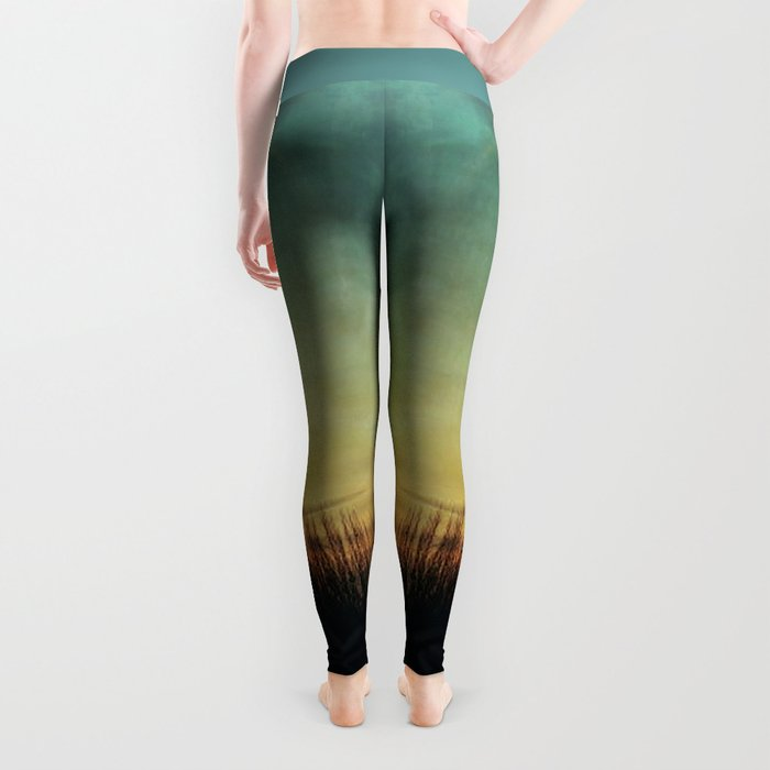 Floating in a Turquoise Sea Leggings