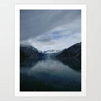 marc johns Art Prints featuring Johns Hopkins Glacier by AlohaBlu | christina rowell