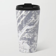 shades of gray marble effect Metal Travel Mug
