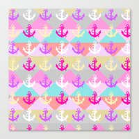 anchors Canvas Prints featuring Anchors by Ornaart