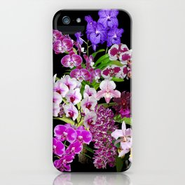 Orchids - Cool colors! iPhone Case