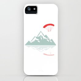 "Nice Skydiving Shirt For Skydivers ""Mountains"" Flying T-shirt Design Plane Jump Extreme Sport Sporty iPhone Case"