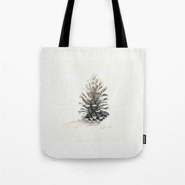 Pinecone Watercolor Tote Bag