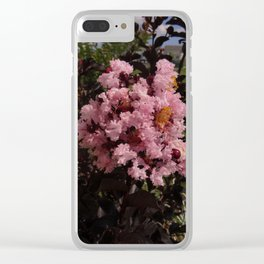 Pink Crepe Myrtle Clear iPhone Case