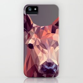 Colorful Polygons Abstract Deer iPhone Case