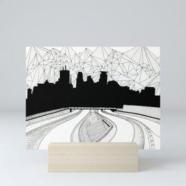 Dreaming the downtown Mini Art Print