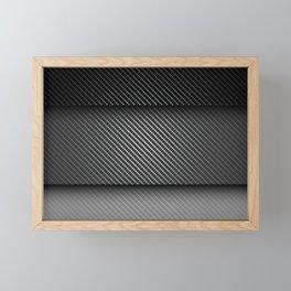 Carbon Fibre Mask Framed Mini Art Print