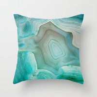 crystal Throw Pillows featuring THE BEAUTY OF MINERALS 2 by Catspaws