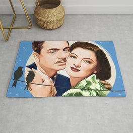Nick and Nora Full Moon and Love Birds Rug