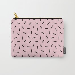 Postmodern Funfetti in Pink + Black Carry-All Pouch
