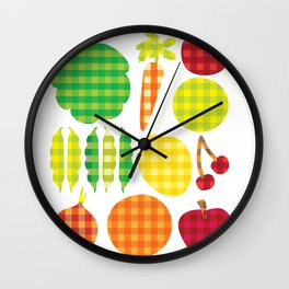 Gingham Goods Wall Clock