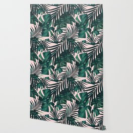 Tropical Jungle Leaves Pattern #5 #tropical #decor #art #society6 Wallpaper