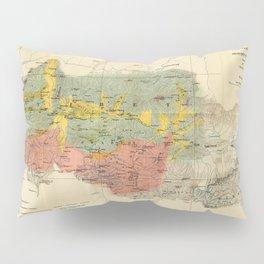 Vintage Geological Map of The Mount Everest Region (1921) Pillow Sham