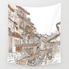 Xitang.China.River Village Wall Tapestry