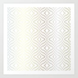 Silver Bargello Geometric Art Print
