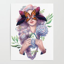 The Butterfly Mask Poster