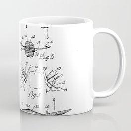 Fishing Tackle Vintage Patent Hand Drawing Coffee Mug