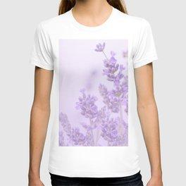 Lovely Lavenders Pastel Purple Background #decor #society6 #buyart T-shirt