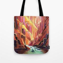 Grand Canyon Rig to Flip Abstract Canyon Tote Bag