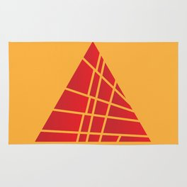 Sliced Red Pyramid Rug
