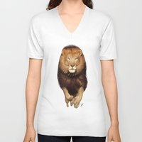 hunter V-neck T-shirts featuring Hunter by Qaizor
