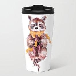 raccoon meditates (male) Travel Mug