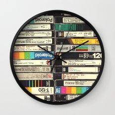 VHS Stack Wall Clock