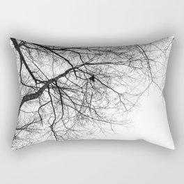 Bare Branches Hold Heart Nest Rectangular Pillow
