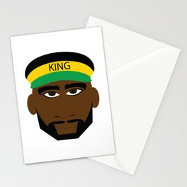 Black Yellow Green Jamaica King Stationery Cards