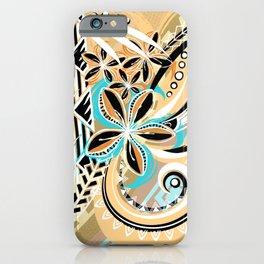 Hawaiian - Samoan - Polynesian Tiare Tribal Designs iPhone Case