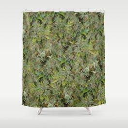 cannabis bud, marijuana macro Shower Curtain