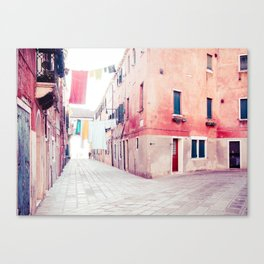 Hanging Hues in Venice Fine Art Print Canvas Print