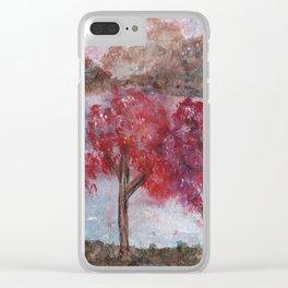 Watercolor Brilliant Night Landscape Clear iPhone Case