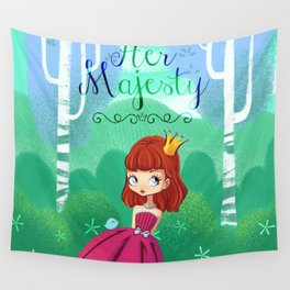 Her majesty  Wall Tapestry