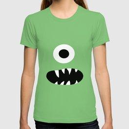 Cute Kids Monster Face Pattern T-shirt