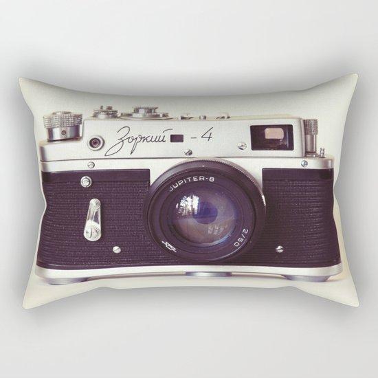 Zorki vintage camera Rectangular Pillow