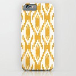 Yellow Ikat Pattern iPhone Case